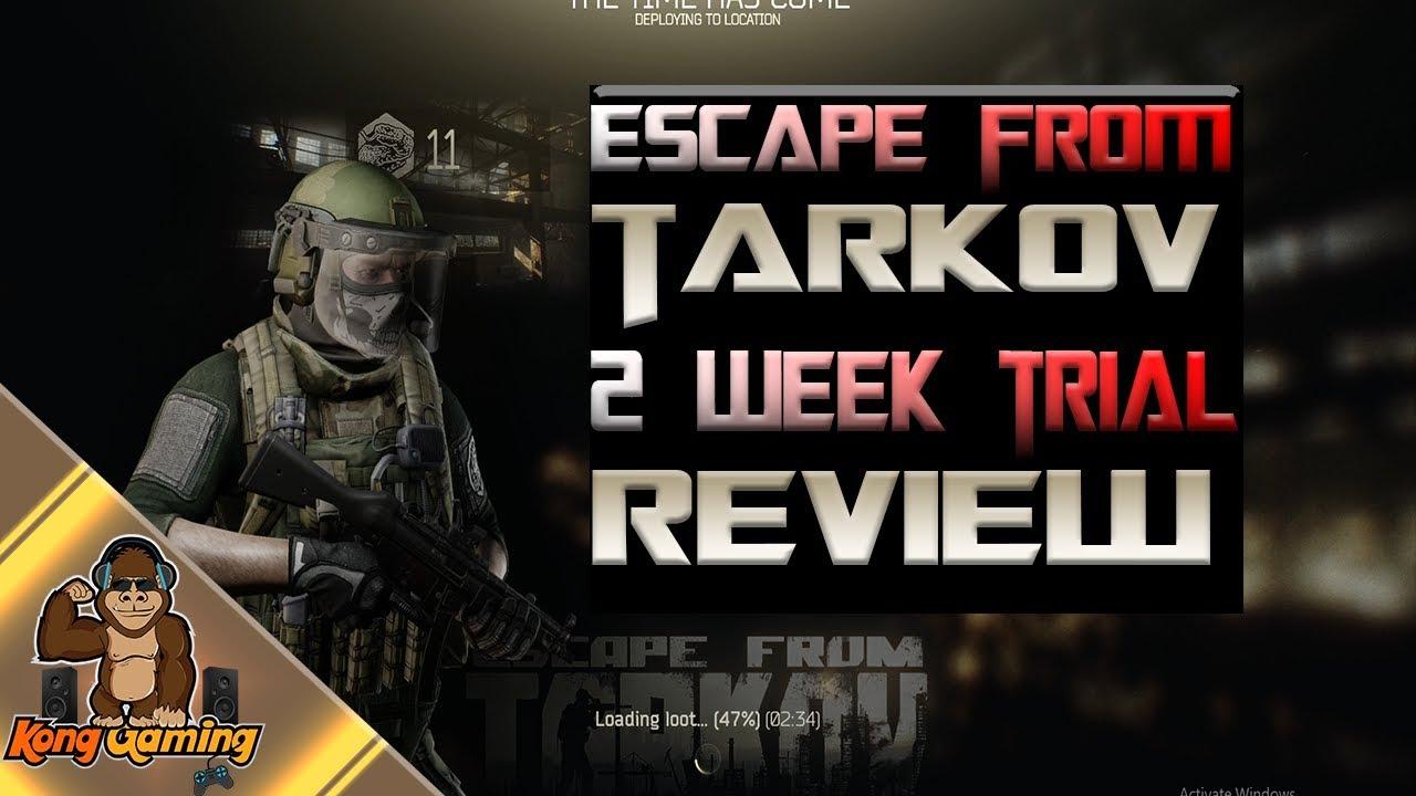 escape from tarkov trial