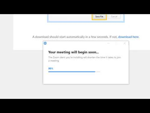 Installing Zoom From A Link Using Mozilla Firefox Browser