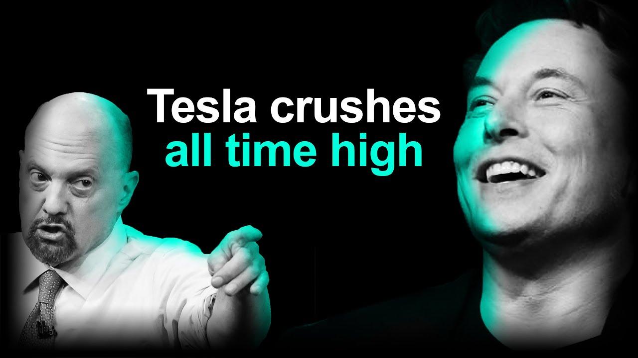 Tesla Stock Hits All Time High, Jim Cramer Pumps TSLA 🚀
