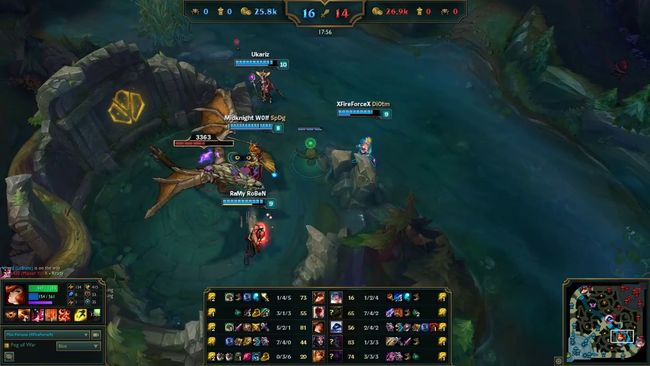 League Of Legends Miss Fortune Vs Jinx S7 Ranked Gameplay