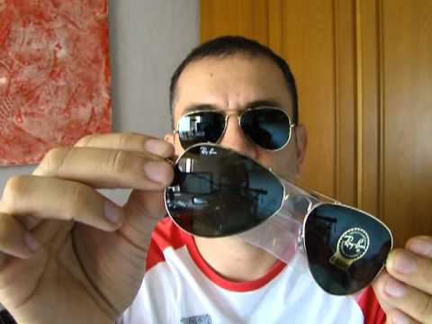 rb3025 58mm  Rayban Aviator RB3025 58mm - YouTube