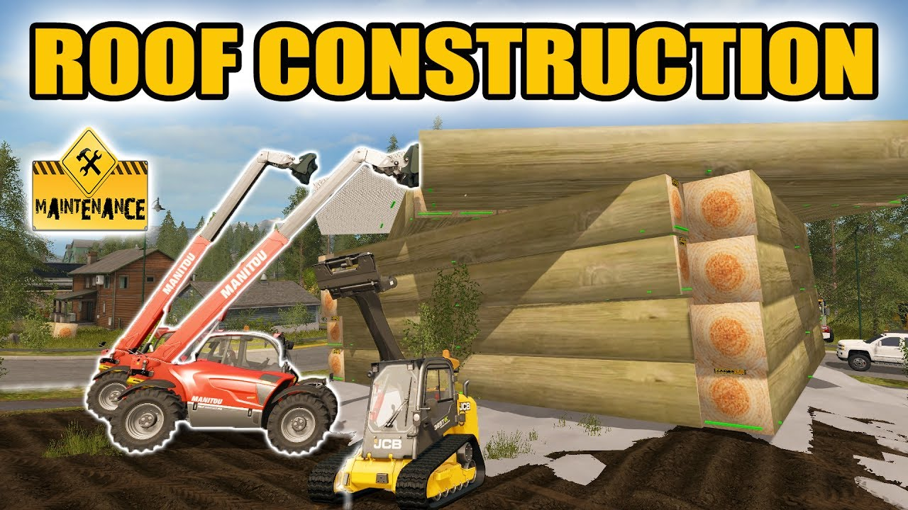 Farming simulator 2017 lake house roof construction Lakehouse construction