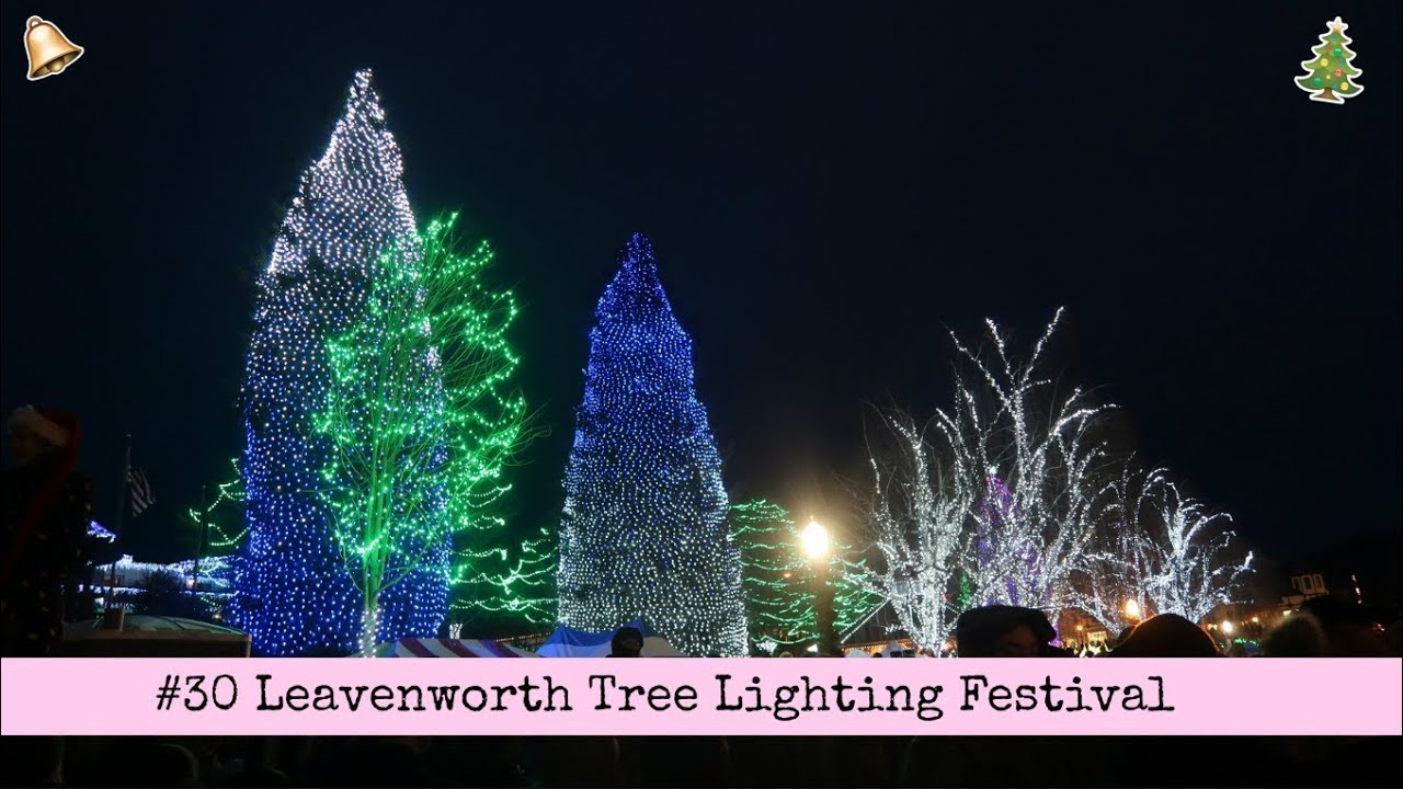 30 leavenworth tree lighting vlog exchange year usa 20172018
