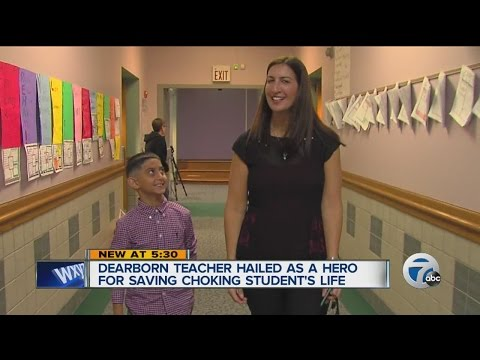 Dearborn teacher saves student's life
