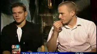 Heath Ledger Matt Damon interview for The Brothers Grimm