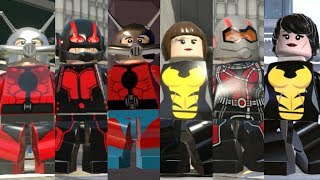 Ant-Man and the Wasp Evolution in Lego Marvel Videogames