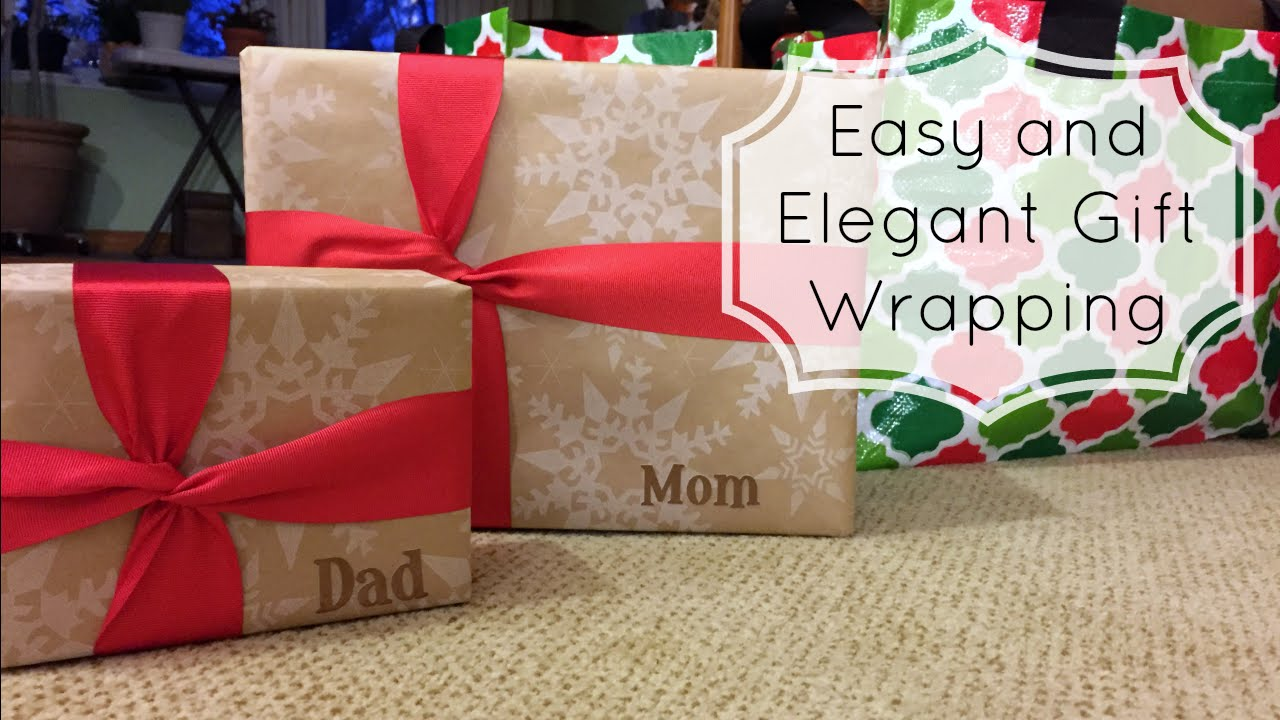 Easy and Elegant Gift Wrapping - Last Minute Christmas Wrapping ...