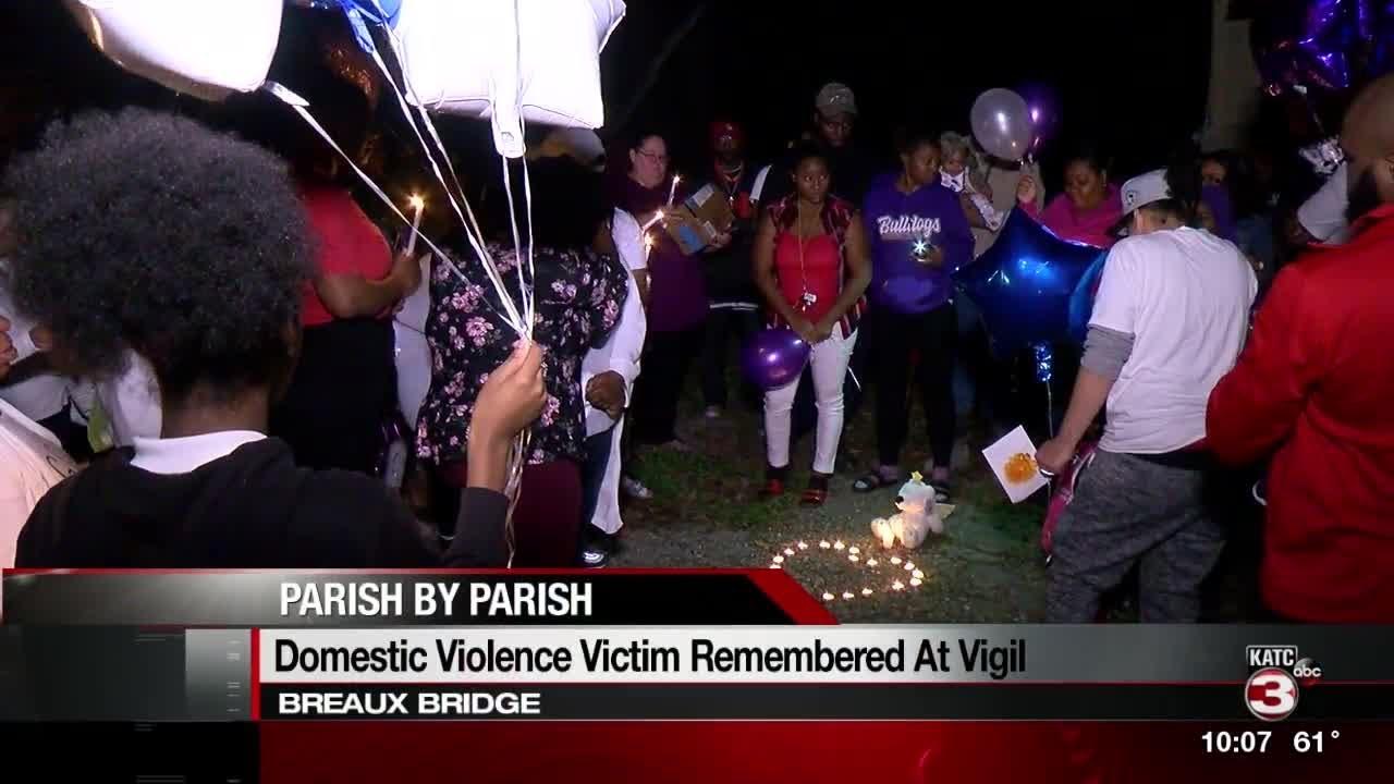 Vigil held for woman slain in Breaux Bridge