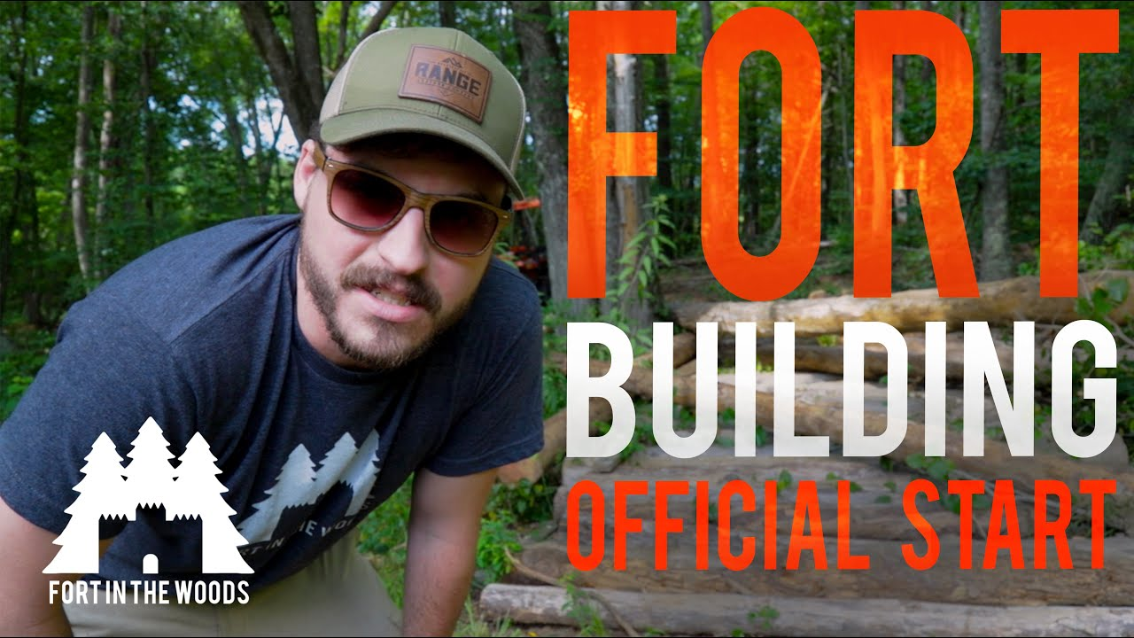 Ep. 6 Fort Building | Staking Out the Walls and Corners For the Fort In The Woods | FITW