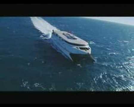 Barco Catamaran MILENIUM. Naviera Acciona Transmediterranea.
