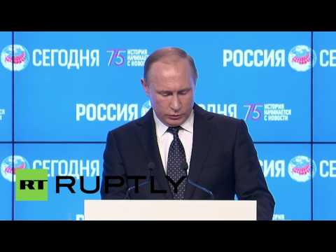 Russia: Putin speaks on press freedom at Moscow journalism forum