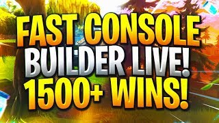 Really Fast Console Builder, Fortnite Battle Royale 1500+ Wins! @Tzbl_