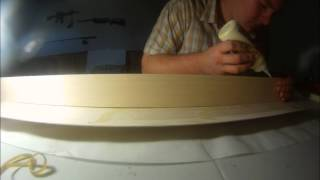 Laminating Balsa Wood Side To Side,timelaps