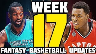 Week 17 Fantasy Basketball 2018 Updates and Waiver Wire Pickups!