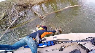 DISASTER while Fishing!! --Rescued from Freezing Water