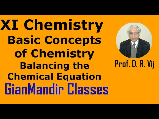 XI Chemistry | Basic Concepts of Chemistry | Balancing the Chemical Equation by Ruchi Ma'am