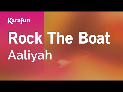 Karaoke Rock The Boat - Aaliyah *