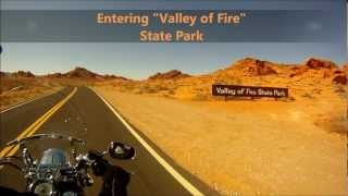 "Bike Trip to ""The Valley of Fire State Park"" Nevada, 2012   Riding 2011 Harley Davidson"