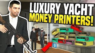 Video LUXURY YACHT FILLED WITH MONEY PRINTERS - Gmod DarkRP | Making Thousands! download MP3, 3GP, MP4, WEBM, AVI, FLV Juli 2018