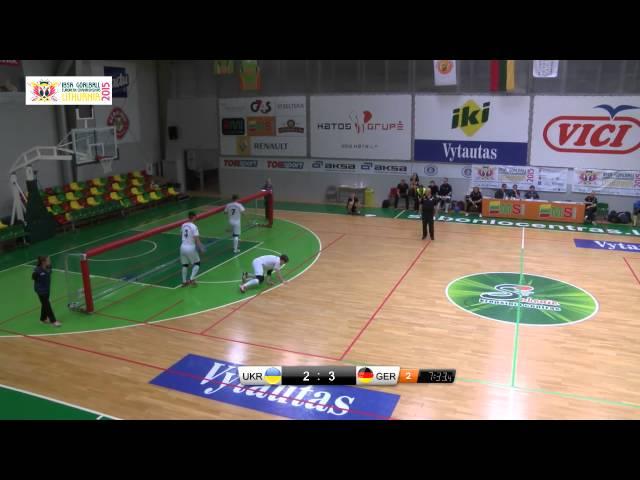 51 Ukraine   Germany Men 2015 IBSA Goalball European Championships Lithuania