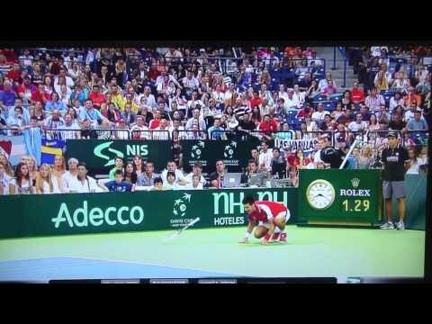 Novak Djokovic Injury Davis Cup 2011