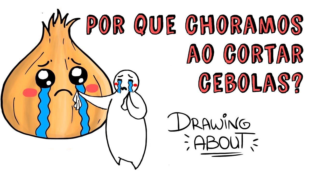 Por que choramos ao cortar cebolas? 🧅 Draw My Life Português