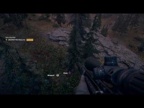 Far Cry 5 Wolf Beacon Parachute Snipe Youtube