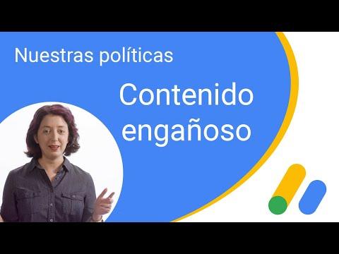 Nuestras políticas: contenido engañoso