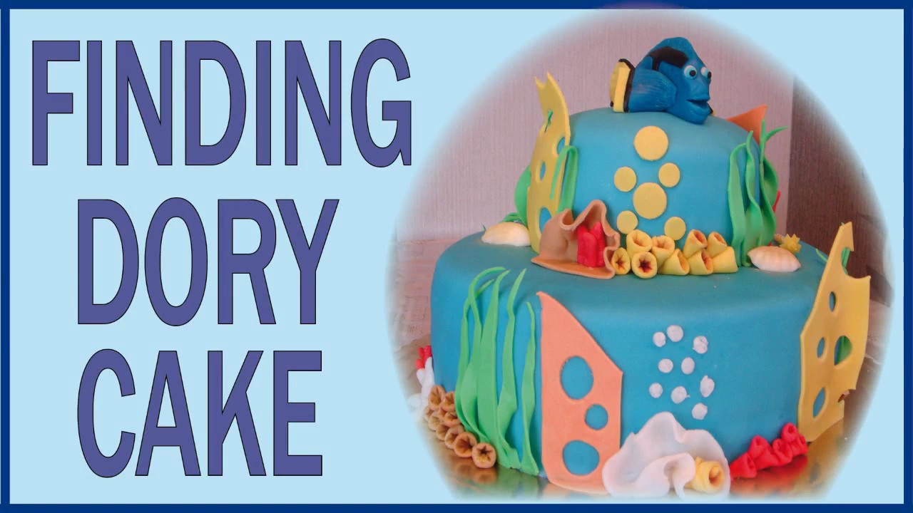Finding Dory Cake How to make fondant Dory YouTube