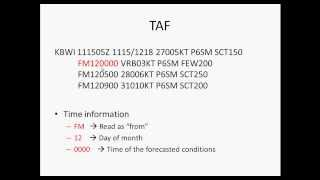 How to read a TAF