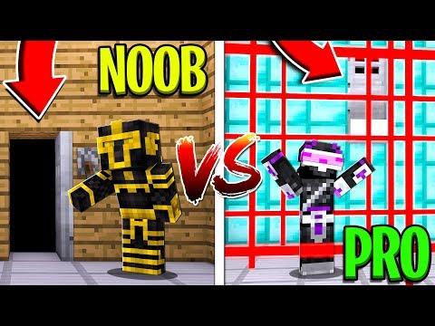NOOB VS PRO ¿¡CUAL ES LA PRISIÓN MÁS SEGURA DE MINECRAFT!?   MINECRAFT TROLL thumbnail