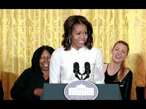 First Lady Michelle Obama Hosts a Student Film Symposium