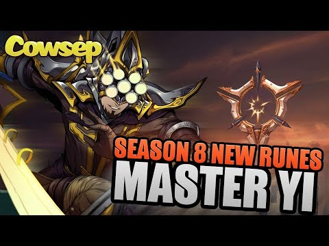 SEASON 8 MASTER YI NEW RUNES - Cowsep's Guide
