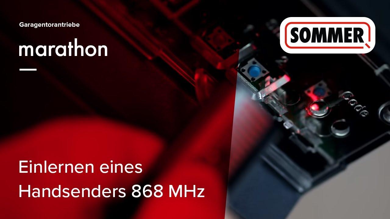 Fabulous SOMMER Einlernen eines Handsenders 868 MHz in einen marathon (DE YN14