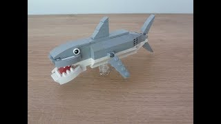 lEGO How to Build a Shark Instructions Tutorial MOC Totobricks Animals Challenge #1