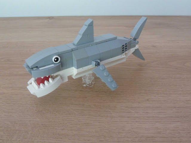LEGO How to Build a Shark Instructions Tutorial MOC Totobricks Animals Challenge #1