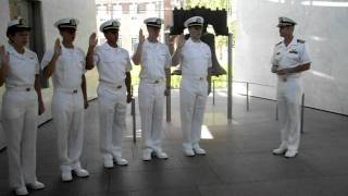 Max Commissioning  as Navy Ensign