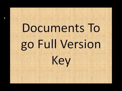 Documents to go full version key for free 100% TESTED and WORKING