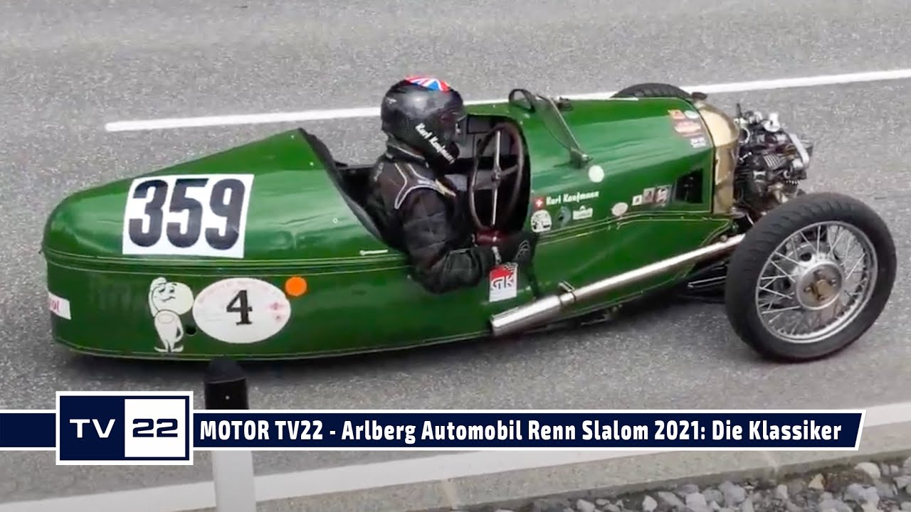 MOTOR TV22: Arlberg Automobil Renn Slalom 2021 - Die Klassiker auf der Strecke und im Interview