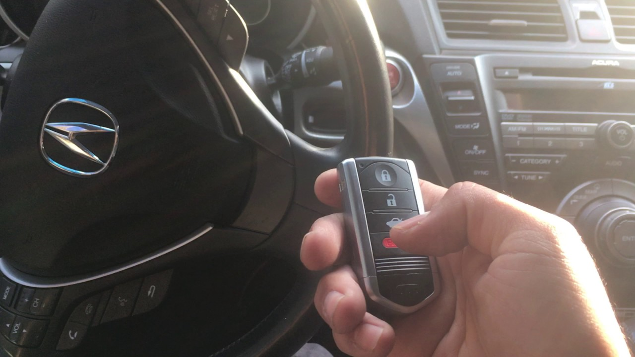 Acura TL Key Fob Programming YouTube - Acura tl key fob