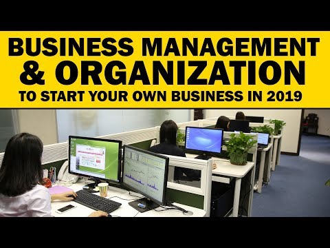 Business Management & Organization to Start Your Own Business in 2019