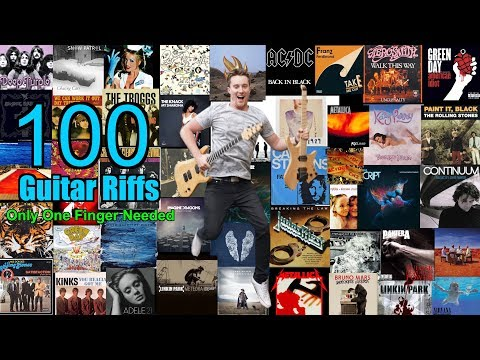 🎸 100 Classic Riffs! Only ONE Finger Needed! PDF with all TABs in description |  Mp3 Download