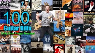 🎸 100 Classic Riffs! Only ONE Finger Needed! PDF with all TABs in description