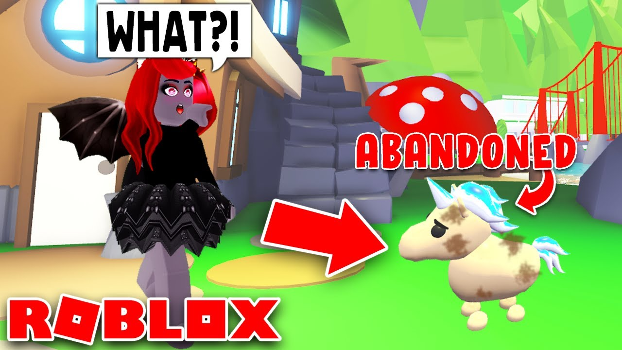 I Found An Abandoned Golden Unicorn In Adopt Me Roblox Youtube