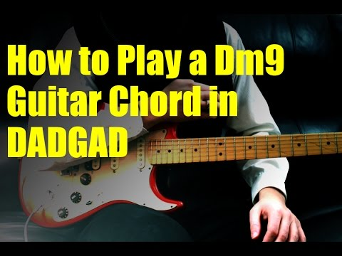 how to play a dm9 guitar chord in dadgad