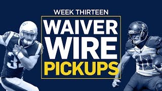Week 13 Waiver Wire Pickups (Fantasy Football)