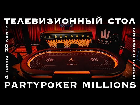 Как выглядят покерные телевизионные столы Partypoker и Triron Poker?