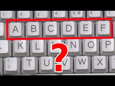¿Por qué los teclados NO están en orden alfabético? (Teclado qwerty) + 5 curiosidades