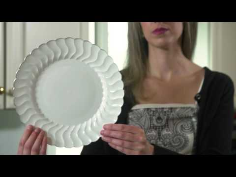 Heavy Duty White Scalloped Edge Plastic Plates & Heavy Duty White Scalloped Edge Plastic Plates - YouTube