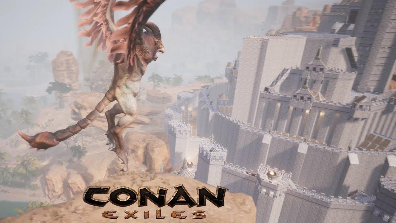 Jhebbal Sag VS Minas Tirith | Conan Exiles Avatar and Build Showcase